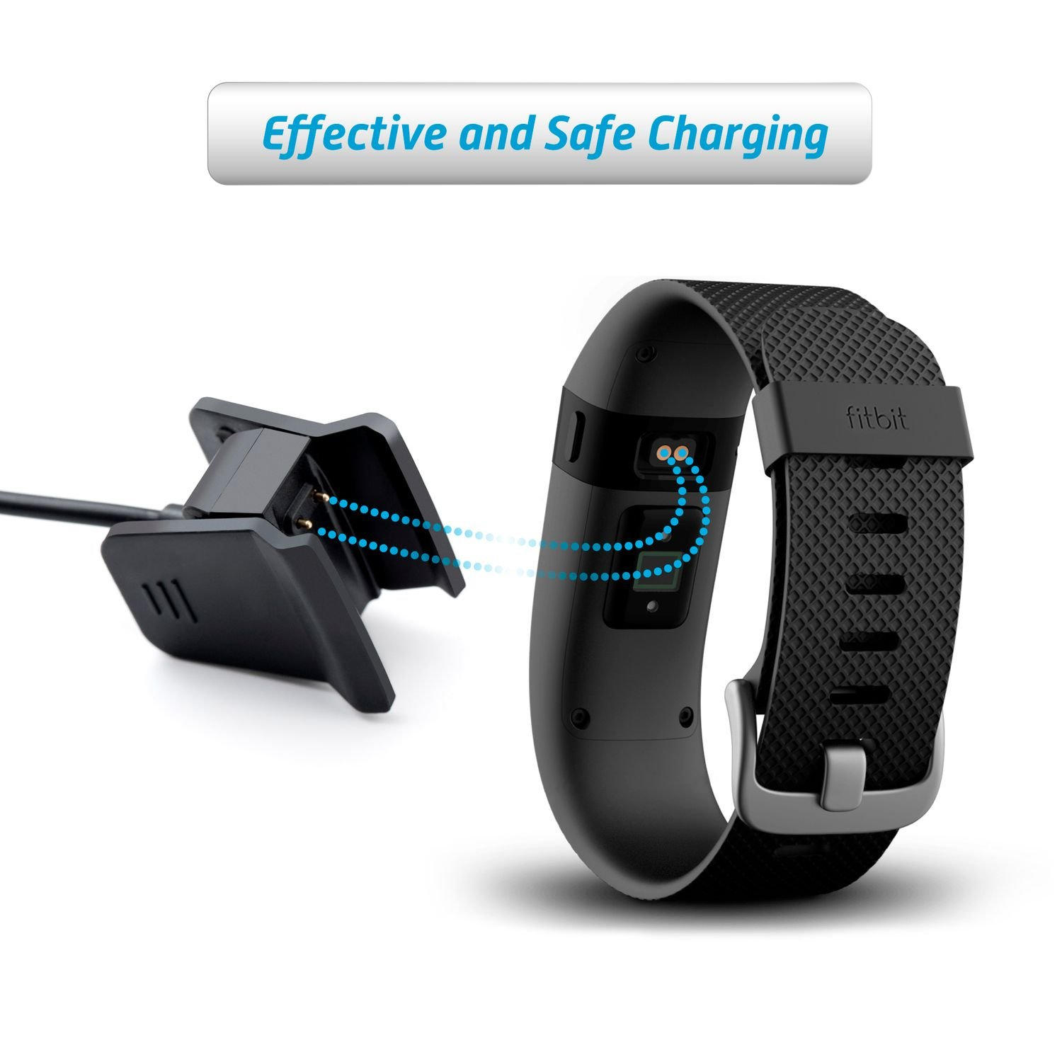 Fitbit Alta HR Charger Insten 1 Ft USB Replacement Charging Cable Cord for Fitbit Alta HR 2017 2 Pack