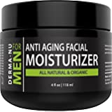 Mens Moisturizer, Aftershave Lotion & Anti Aging Cream – Prevent Post Shave Irritation + Age Defense – All Natural – Derma-nu For Men - 4oz