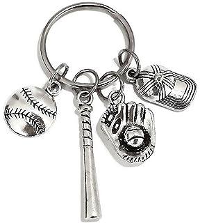 Amazon.com: Béisbol Keychain, keychain, joyas y de béisbol ...