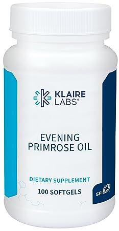Klaire Labs Evening Primrose Oil – Cold Pressed Gamma Linolenic Acid GLA Supplement, Hypoallergenic Omega-6 100 Softgels