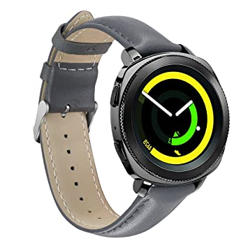 Samsung Gear Sport Watch Band,YiJYi 20mm Genuine Leather Sport Replacement Band Strap for...