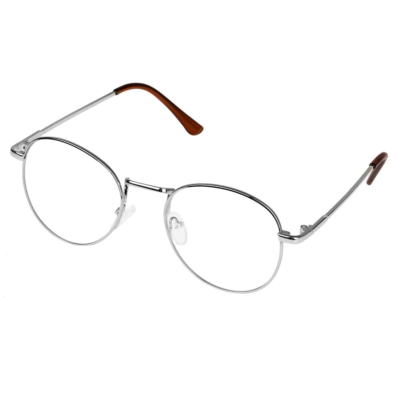 forepin reg; Unisex Ovale Montatura Occhiali da Vista Occhio Frame Struttura Vetri Ottici Pianura rotonda vetro Plain completa-Rim Occhiali