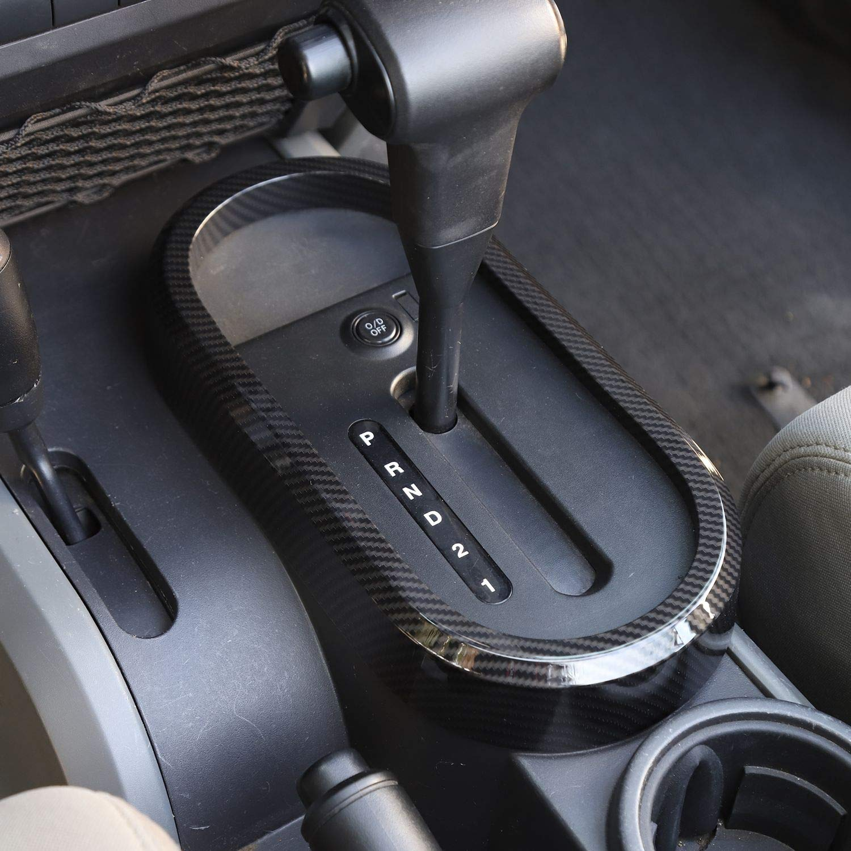 Car Gear Shift Panel Frame Cover Trim Interior Accessories for Jeep Wrangler JK JKU Rubicon Sahara Sport 2//4 Door 2007-2010 Red