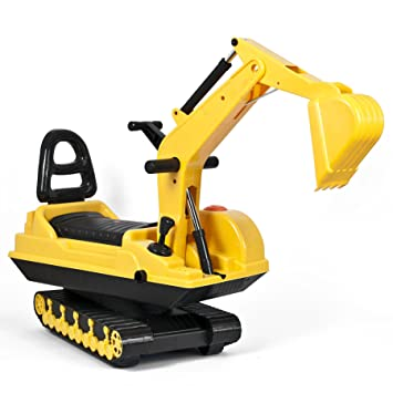 TekBox Childrens Ride on Excavator Indoor and Outdoor Push Along Digger  with Potty Seat