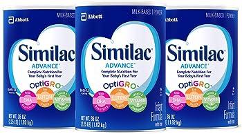 3-Pack Similac Advance Infant Formula with Iron