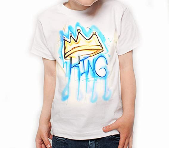 32869f1e3d0f Amazon.com: GT Artland Unisex Crown Design with Custom Color and Custom Text  on White T-Shirt: Handmade