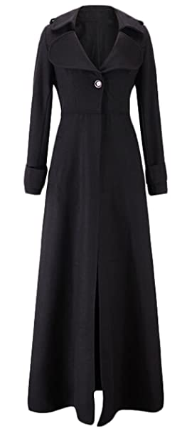 Vintage Coats & Jackets | Retro Coats and Jackets GAGA Women Single Breasted Overcoat Long Trench Coat Outerwear $42.99 AT vintagedancer.com