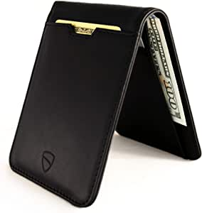 Vaultskin Manhattan slim bifold wallet with RFID protection (Black)
