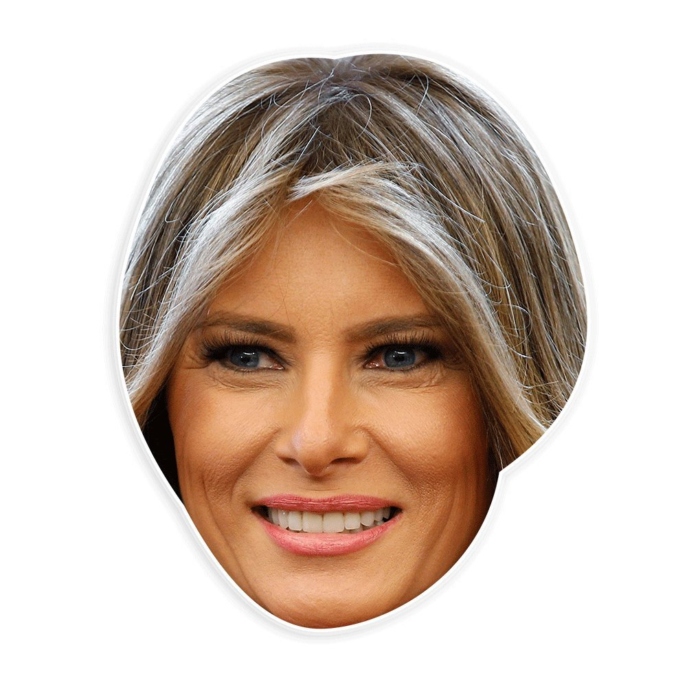 Unwelcome Greetings Happy MelaniaTrump Mask - Perfect for Halloween, Masquerade, Parties, Events, Festivals, Concerts - Jumbo Size Waterproof