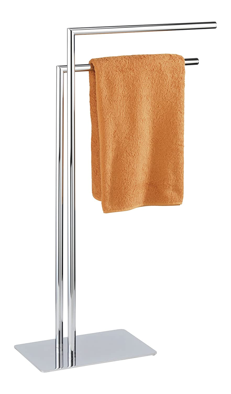 WENKO 18563100 Handtuchständer Recco mit 2 Armen - Kleiderständer, Stahl, 48 x 80.5 x 20 cm, Chrom B003IX0CYA Handtuchhalter
