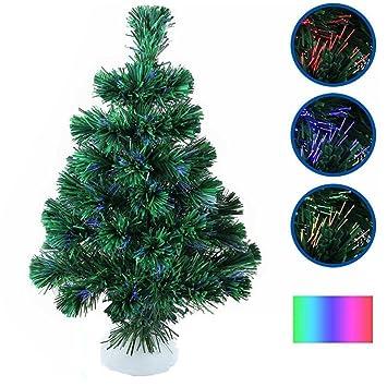 Mini Weihnachtsbaum Mit Batterie.Luckywing Mini Weihnachtsbaum Künstlicher Leuchtender Tannenbaum Led Farbwechsel Glasfaserlichtern 45cm Mit Batteriehalter Ohne Batterie Für