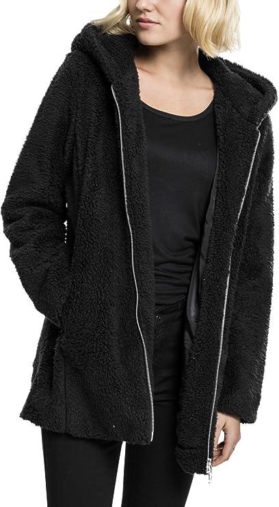 Urban Classics Damen Kapuzenpullover Ladies Sherpa Jacket