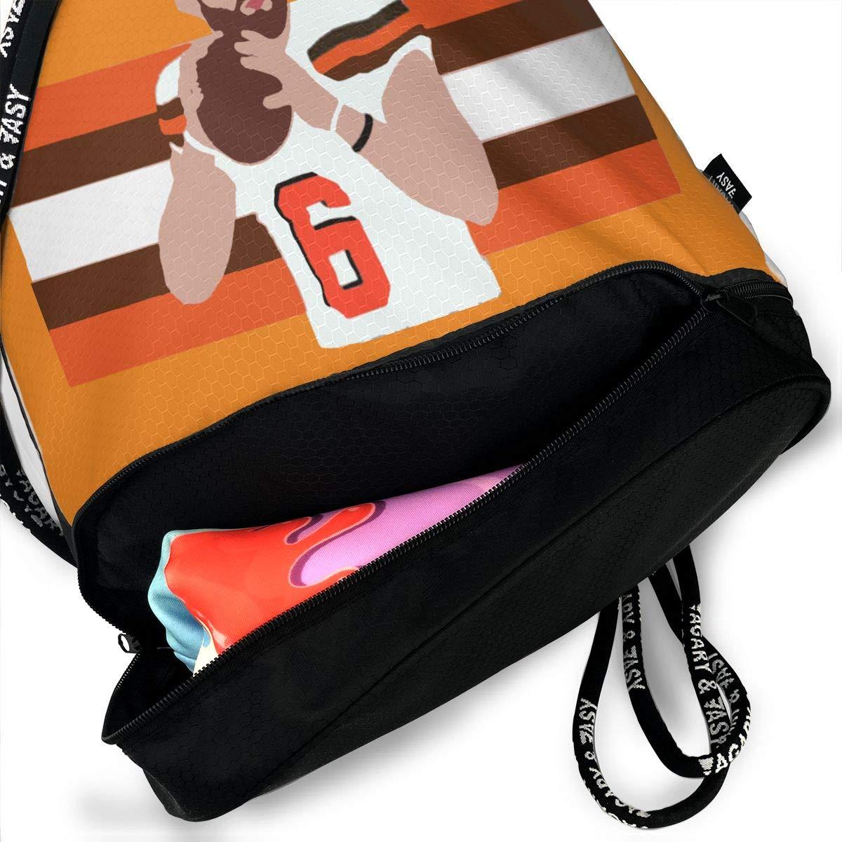 Drawstring Bag Cleveland Baker Stripes Gym Bag Sport Backpack Shoulder Bags Travel College Rucksack