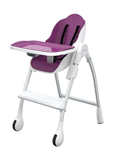 oribel cocoon 3stage high chair plum