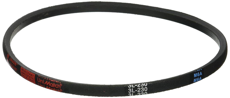 0.22 Thick Jason Industrial 3L230 Fractional Horsepower V-Belt Natural Rubber 0.38 Wide 23 Long