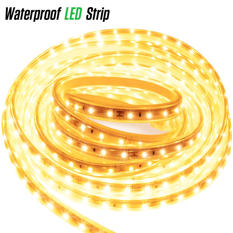 LUXJET® 12V LED Strip 300LED Waterproof LED Strip Light for Kitchen Room Wedding Party Decoration(3M)