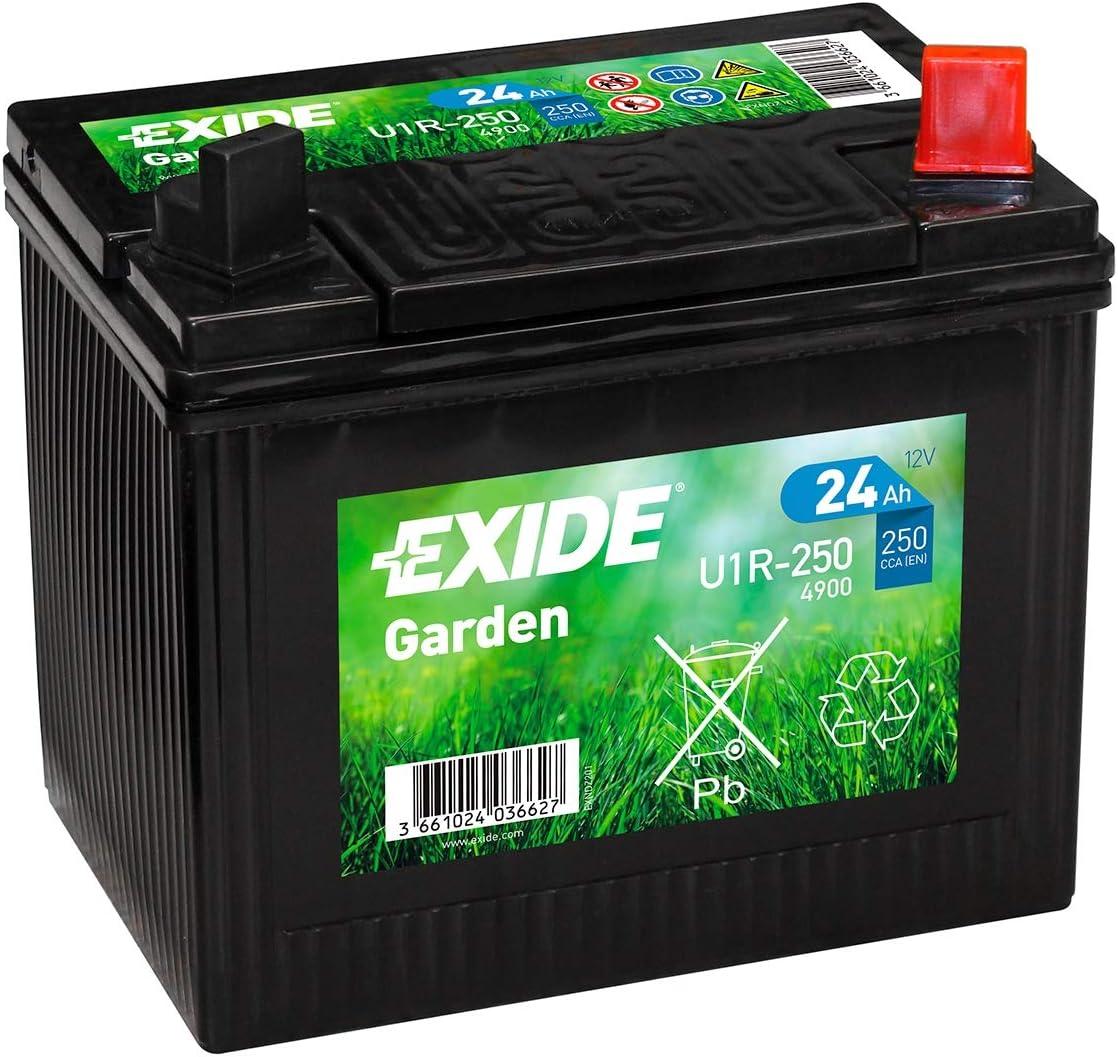 895 Exide U1r 250 Lawn Mower Batterie 12v 24ah 4900 Auto
