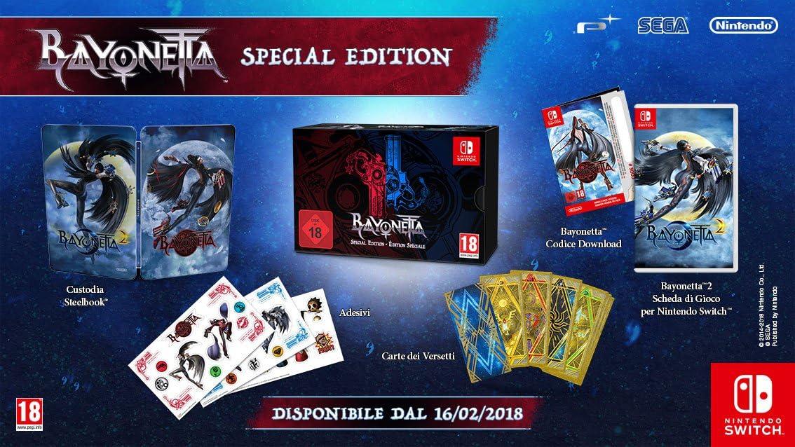 Bayonetta 2 + Bayonetta (code DL) - Limited Special Edition- Nintendo Switch: Amazon.es: Videojuegos
