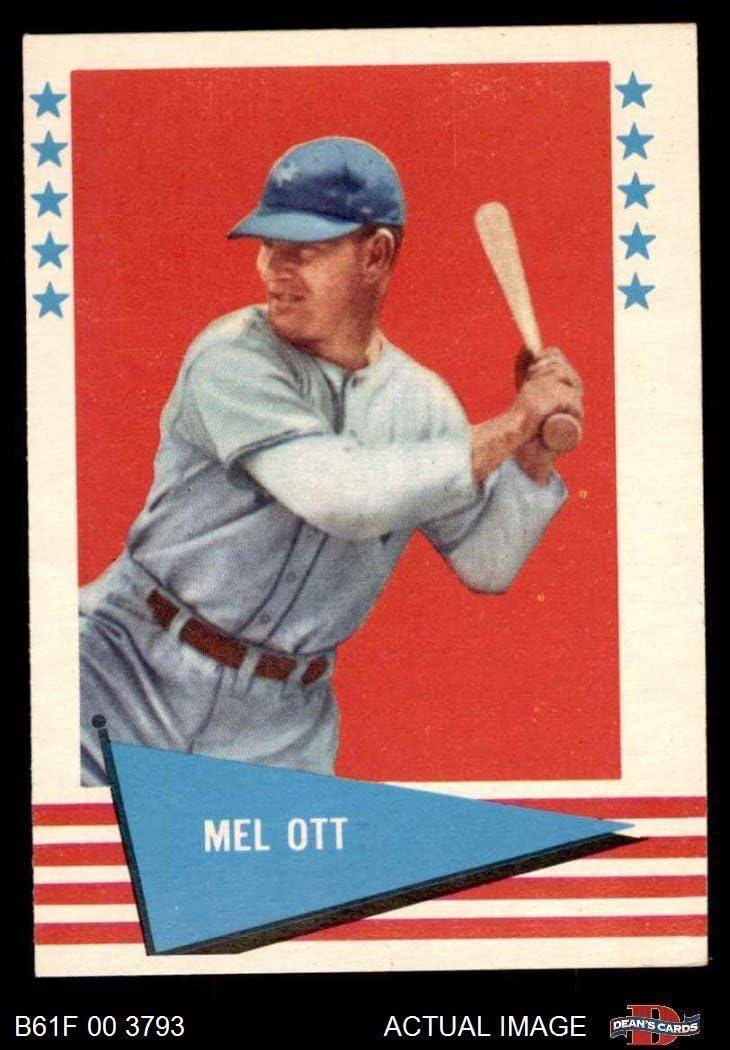 1961 Fleer # 68 Mel Ott San Francisco Giants (Baseball Card) Dean's Cards 6 - EX/MT Giants
