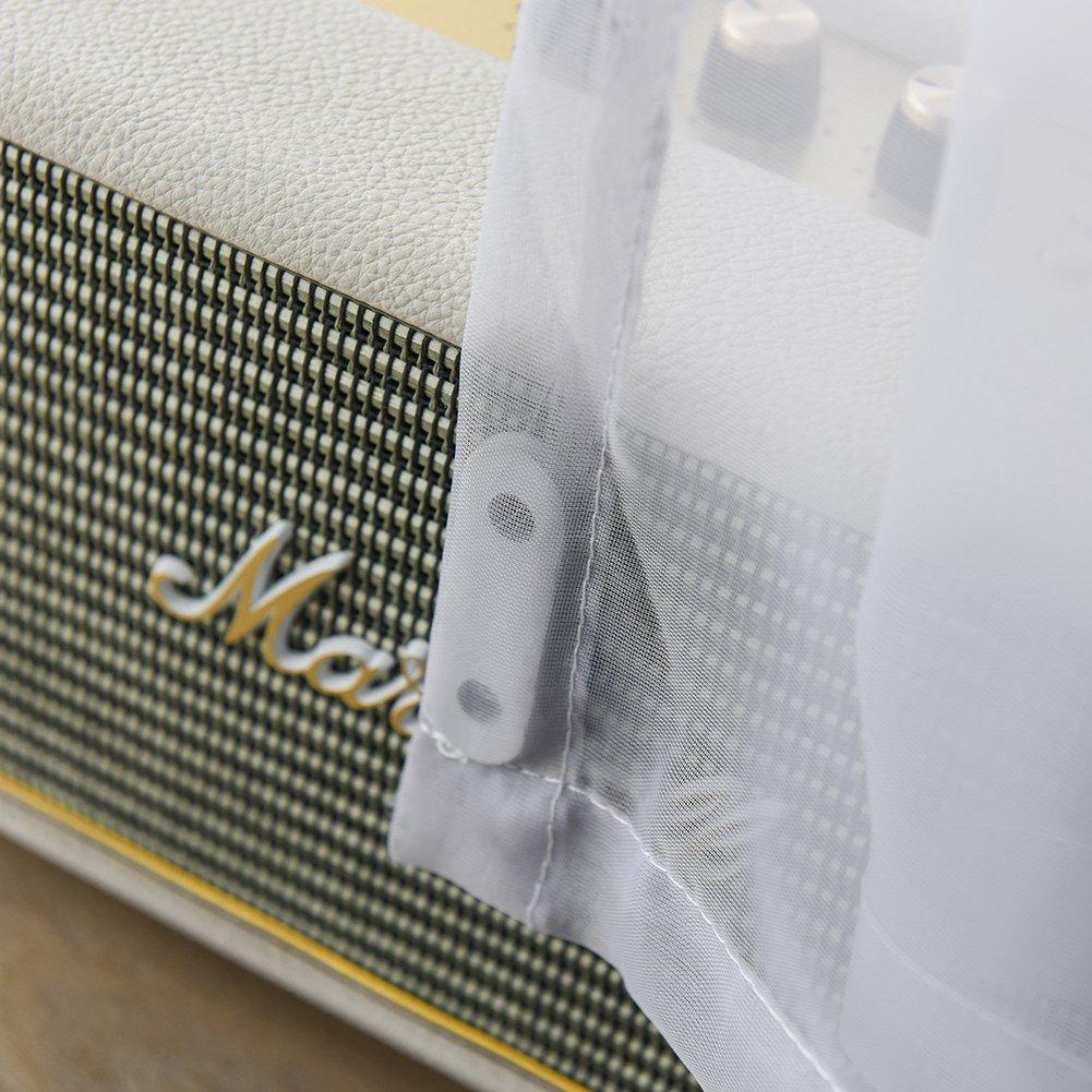 Bloomma Rideaux de fen/être Belle Rideaux Transparents Pure Rideau de Voile Transparent du Tissu de Polyester pour la fen/être de la Porte du Balcon du Salon de la Chambre de lit 100/cm x 250/cm A