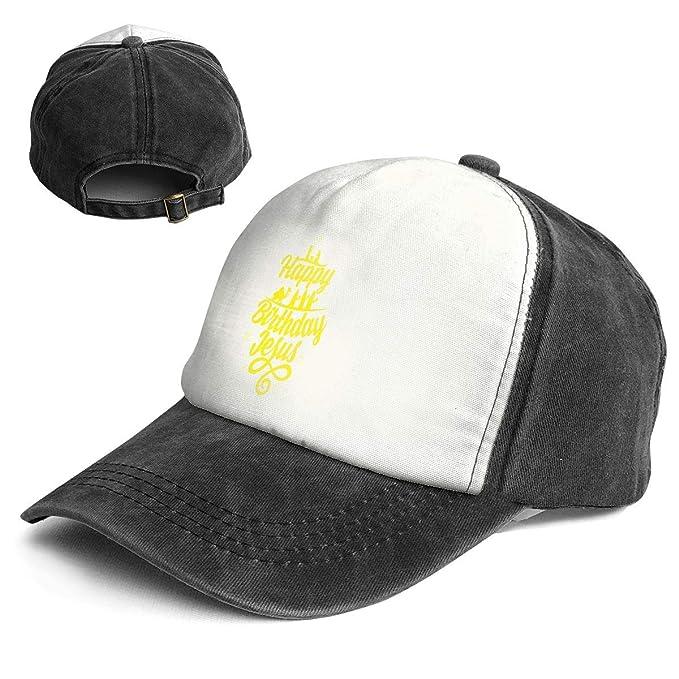 QZDLq Happy Birthday Jesus Fashion Unisex Christmas Hat Party Hats