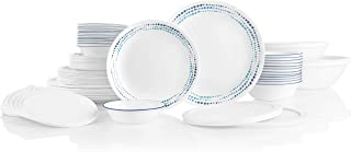 product image for Corelle Service for 12, Chip Resistant, Ocean Blues Dinnerware Set, 78 Piece