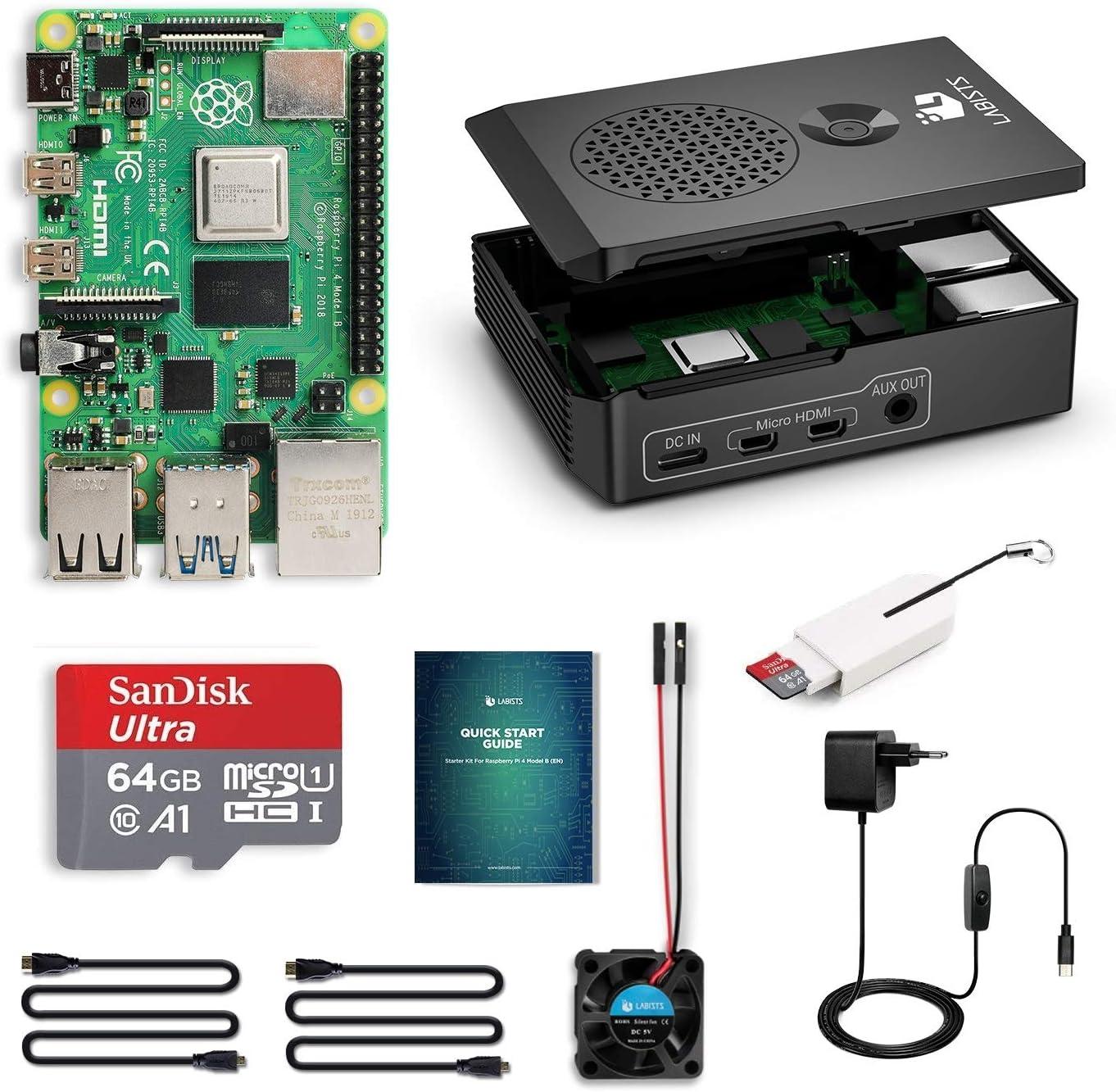 LABISTS Raspberry Pi 4 Modèle B (4 B) 4Go Kit avec 64...