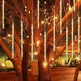 Iluminación exterior para jardín LED E27, para bodas, Navidad, vacaciones o como decoración, blanco, 2 packs: Amazon.es: Iluminación