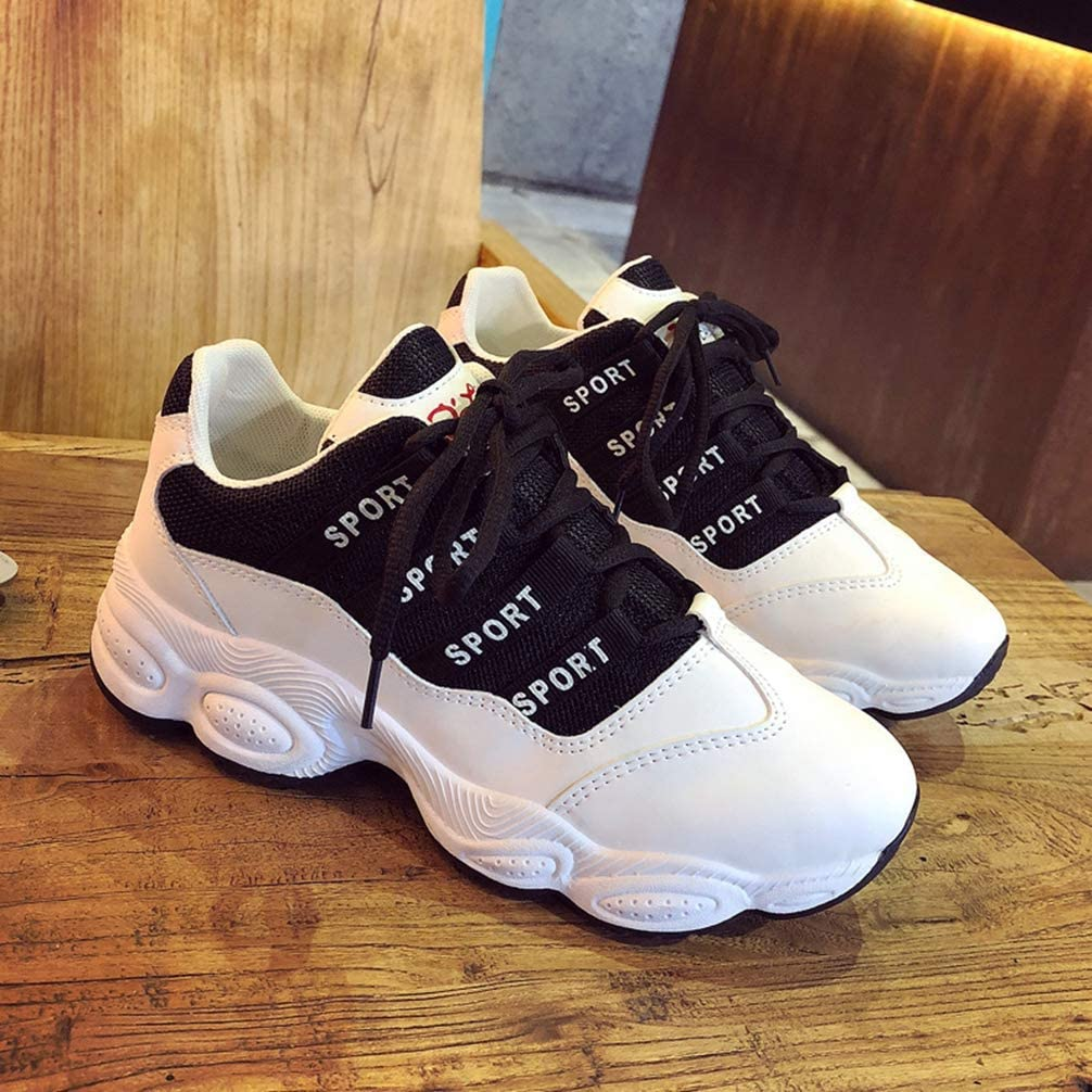 Yakoya Lady Spring Autumn Wedges High Heels Thick Platform Casual Sneakers Fashion Vulcanized Shoes Women