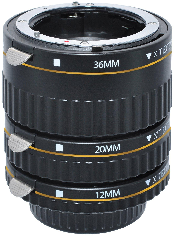 Nikon Extension Tubes Lens Parts Diagram Where To Get For A D5000 Slr Xit Xtetn Auto Focus Macro Tube Set Cameras Black