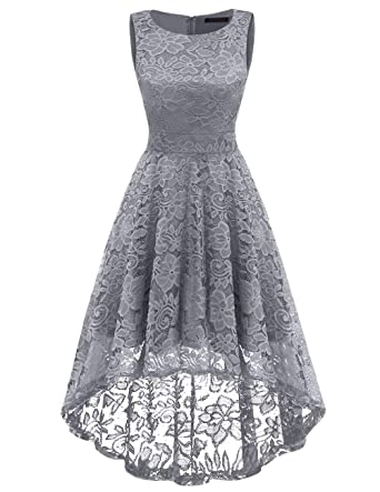 Dresstells Kleider Kleid Vokuhila Elegant Ärmellos Damen tsrChdQ