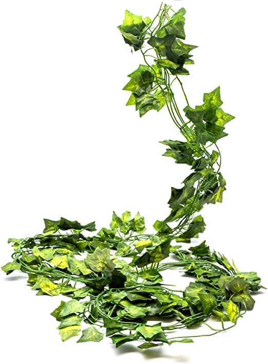 Pack of 3 Artificial Ivy Spray Variegated Green 33cm Decorative Leaf Foliage