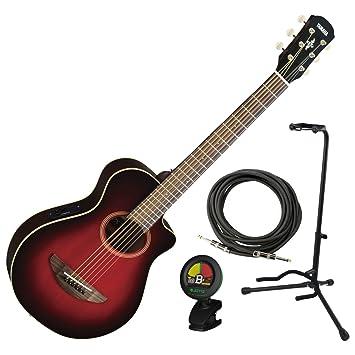 Yamaha APXT2 Guitarra eléctrica DRB 3/4 acústica escala rojo oscuro Burst eléctrico W/funda, soporte, sintonizador, y cable: Amazon.es: Instrumentos ...