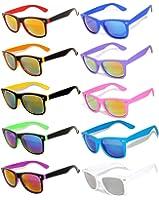 Retro Vintage Sunglasses Colorful Mirror Lens Matte Frame 3,5,6,10 Pairs.