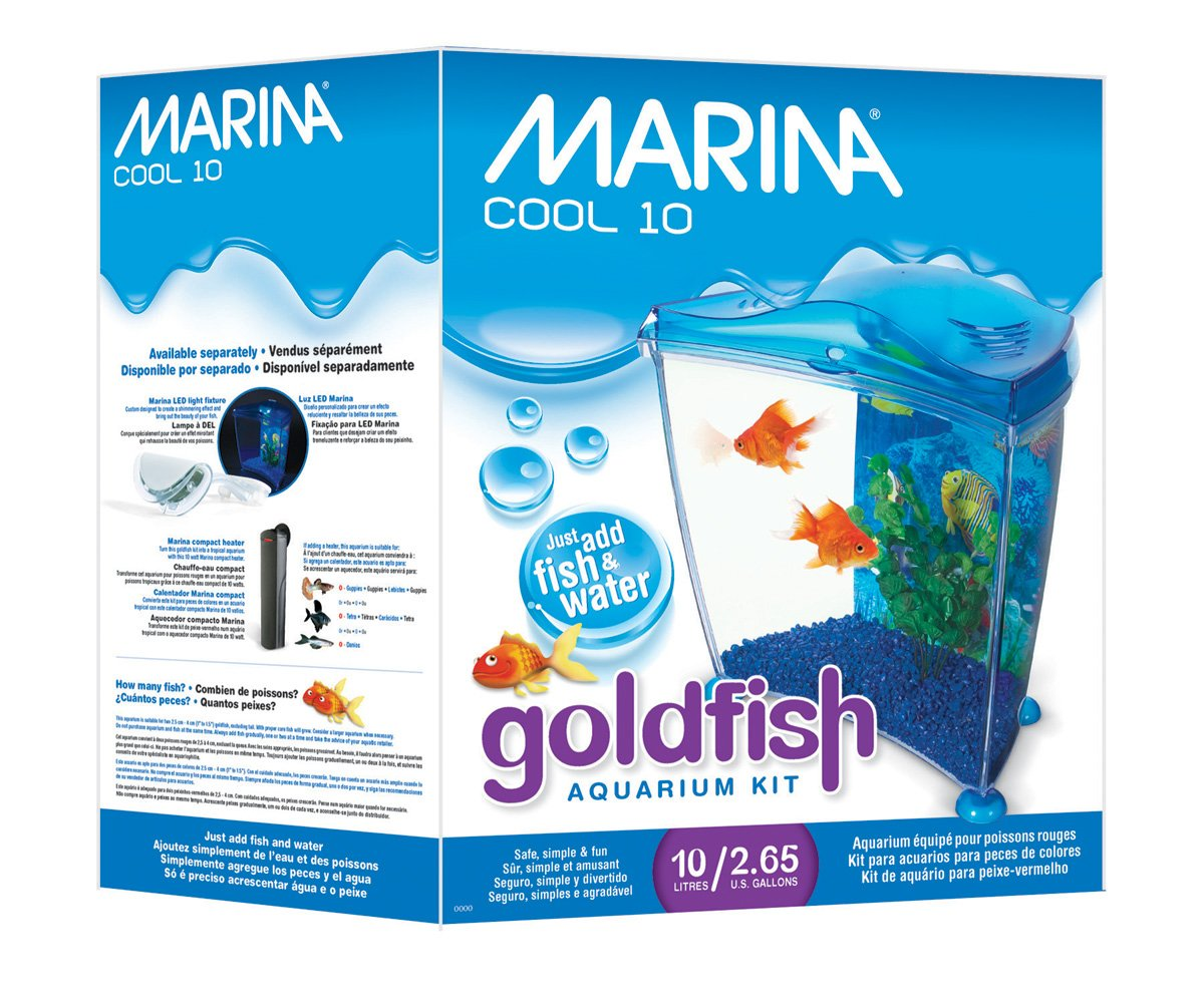 Amazon.com : Marina Cool Goldfish Kit, Purple, Medium/2.65-Gallon : Aquarium Starter Kits : Pet Supplies