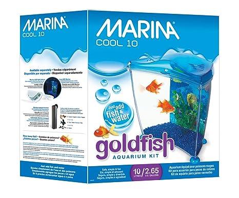 Marina Kit Cool Goldfish, 10 L, Color Azul