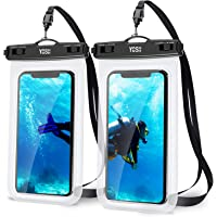 YOSH IPX8 vattentätt telefonväska [2 stycken], undervattensfodral, regntät torrväska med snodd för iPhone 12/11 pro max…