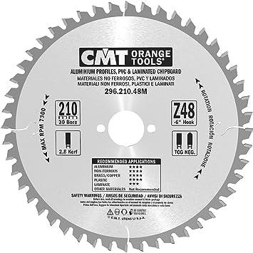 CMT Orange Tools 296.210.48M - Sierra circular 210x2.8x30 z 48 tcg -6 grados