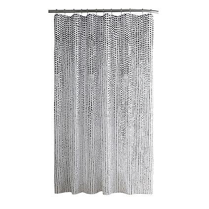 ChezMax Black Spots Bathroom Curtain Decorative Fabric Shower 70quot W X 72quot