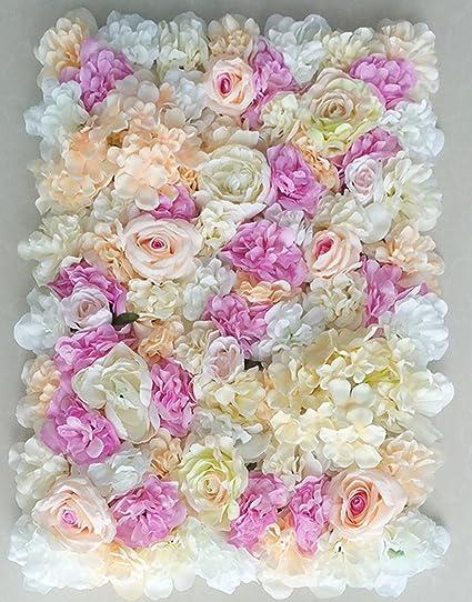 Amazon Yizhihua 40x60cm Artificial Silk Rose Flower Wall