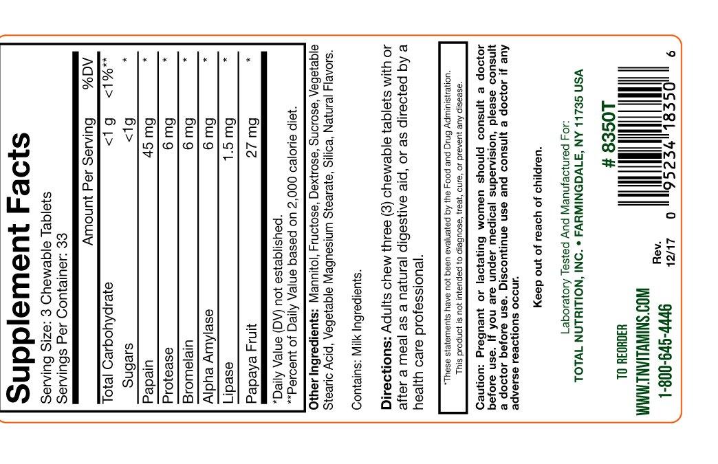TNVitamins Papaya Enzyme Tablets (100 Chewable Tablets)