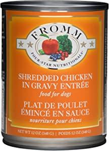 Fromm Shredded Chicken in Gravy 12 Ounce Cans, Case of 12