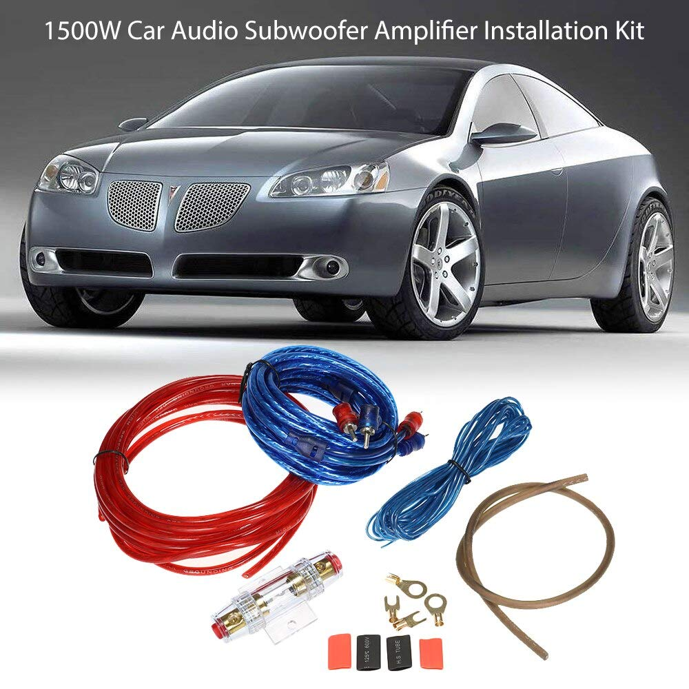 Helen-Box - 1500W Car Audio Subwoofer Amplifier Installation Kit AMP RCA Wiring Kit Cable Fuse Holder Wire Cable RCA Wiring Kit