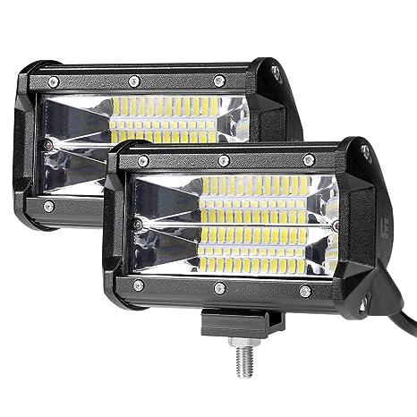 LE Focos de Coche LED 2pc 72W 5200lm 5 Pulgadas Luz Concentrada, Resistente al agua