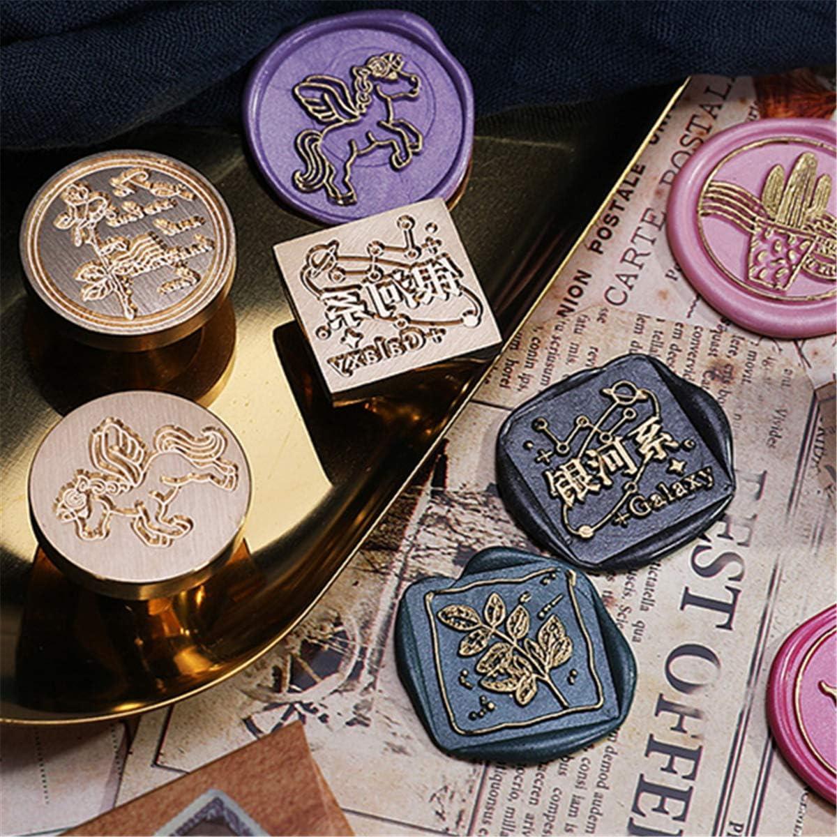 ceretta sigillante per timbri Xwz01 Principe Series Folewr-8 Retro Wax Seal Stamps in Ottone