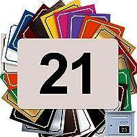 Zelfklevend huisnummer van PVC – gegraveerd bord – groot 10 x 7 cm – 21 kleuren verkrijgbaar (beige)