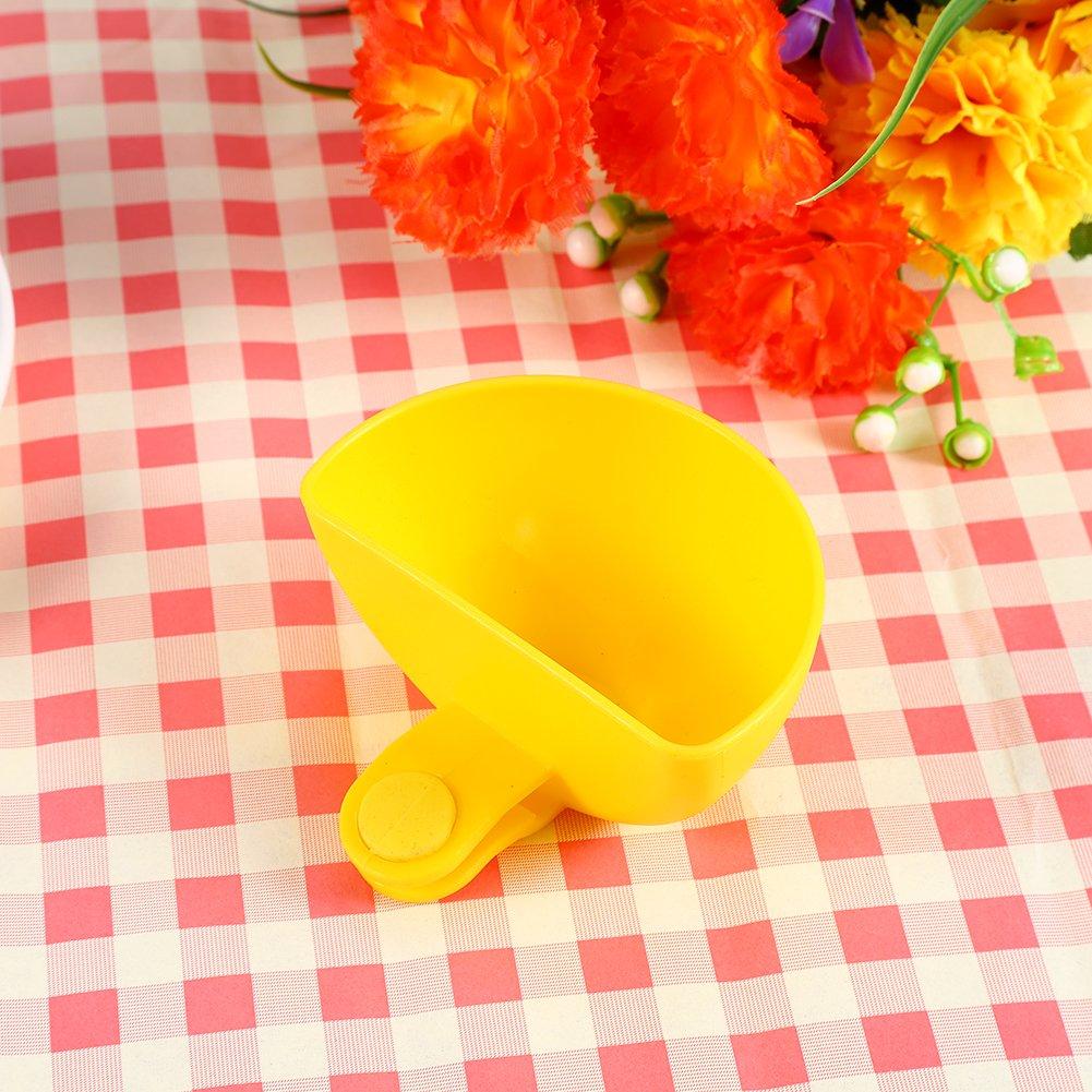 GLOGLOW Dip Clip Bowl Holder Assorted Salad Sauce Ketchup Jam Dip Clip Cup Bowl Saucer Kitchen Party Ware Tableware Tools(Yellow)
