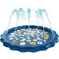 Mumfactory Water Baby Water Sprinkler Pad for Kids, Summer Outdoor Water Toys Wading Pool Splash Play Mat for Toddlers…