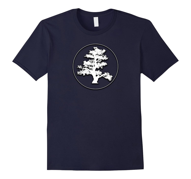 Bonsai Tree in Circle Beautiful Design T Shirt Zen Peace-BN