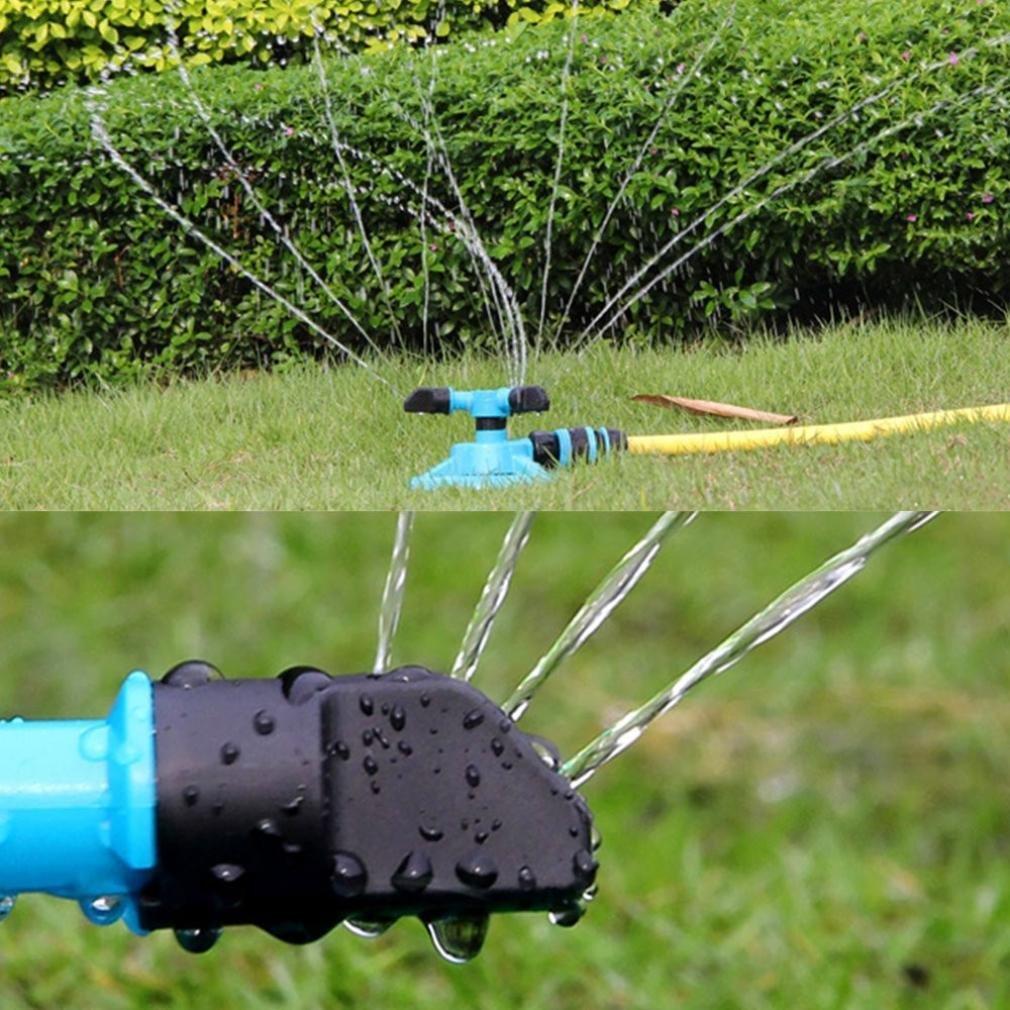 Squarex Clearance Arroseur de jardin pelouse Arroseur automatique Jardin Eau arroseurs dirrigation pelouse Rotation /à 360 /° pour une grande Zone de pelouse avec 3 bras rond Pulv/érisateur